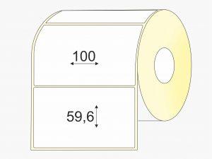 Lipnios etiketės (100 mm x 59 mm), Thermo top, pastiprinti klijai, mažas rulonas | BIZNIO KONTAKTAI