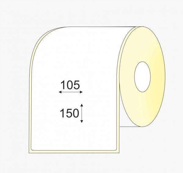 Lipnios etiketės (105 mm x 150 mm), Matte, vellum, mažas rulonas, standartiniai klijai | BIZNIO KONTAKTAI