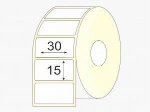 Thermo-top, 30 mm x 15 mm etiketės, mažas rulonas