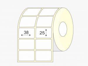 Lipnios etiketės, Thermo Eco, (38 mm x 25 mm), mažas rulonas | BIZNIO KONTAKTAI