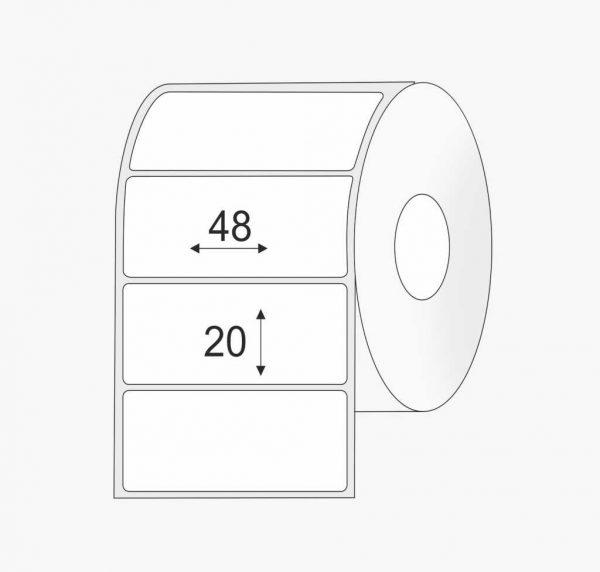 Lipnios plastikinės polipropileno (PP) etiketės (48 mm x 20 mm), standartiniai klijai | BIZNIO KONTAKTAI