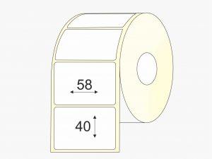 Lipnios etiketės (58 mm x 40 mm), Matte, vellum | BIZNIO KONTAKTAI