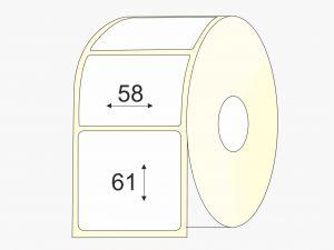 Lipnios etiketės, Thermo Eco, (58 mm x 61 mm), mažas rulonas | BIZNIO KONTAKTAI