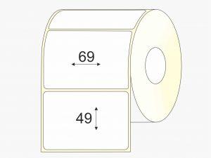 Lipnios etiketės (69 mm x 49 mm), Matte, vellum, standartiniai klijai | BIZNIO KONTAKTAI