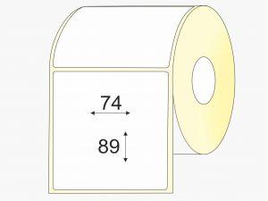 Lipnios etiketės (74 mm x 89 mm), Matte, vellum, mažas rulonas, standartiniai klijai | BIZNIO KONTAKTAI