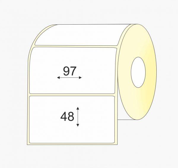 Lipnios etiketės (97 mm x 48 mm), Matte, vellum, mažas rulonas | BIZNIO KONTAKTAI