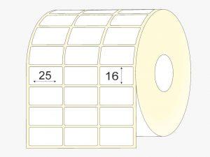 lipnios etiketes 25x16, matinis popierius, didelis, 27 tūkst. vnt.