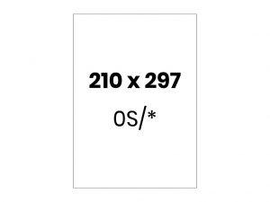 Lipnios etiketės A4 / 210x297 mm
