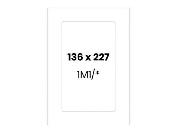 Lipnios etiketės A4 / 136x227 mm