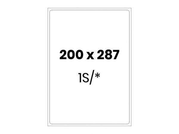 Lipnios etiketės A4 / 200x287 mm
