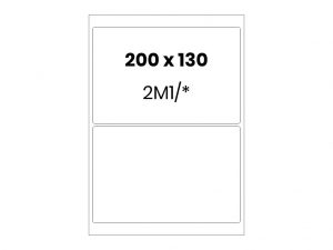 Lipnios etiketės A4 / 200x130 mm