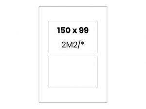 Lipnios etiketės A4 / 150x99 mm