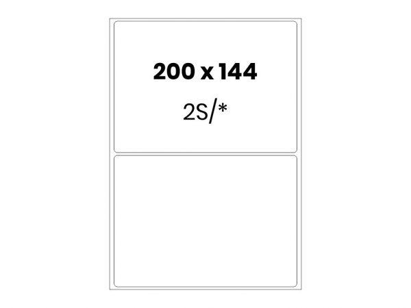 Lipnios etiketės A4 / 200x144 mm