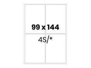 Lipnios etiketės A4 / 99x144 mm