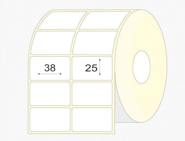 lipnios etiketes 38x25 mm, pusiau blizgios, didelis rulonas, 13 000 vnt.