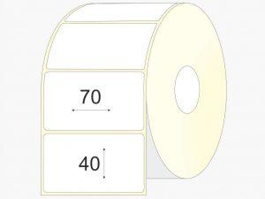 Lipnios etiketės 70 x 40, matinis VELLUM popierius, didelis rulonas, 4 000 vnt.