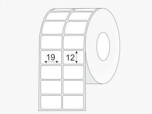 Plastikinės lipnios etiketes 19x12 PP